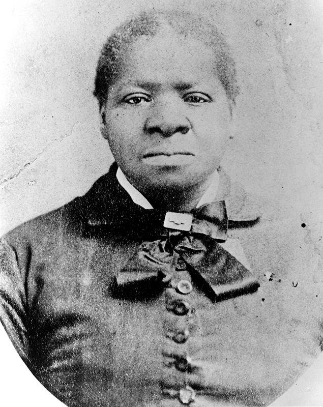 A portrait of a Black woman in period dress.